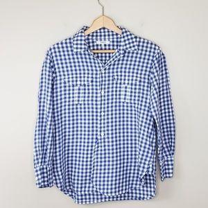 Madewell | Blue Gingham Button Up Shirt